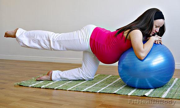 упражнения на фитболе для беременных 2 триместр