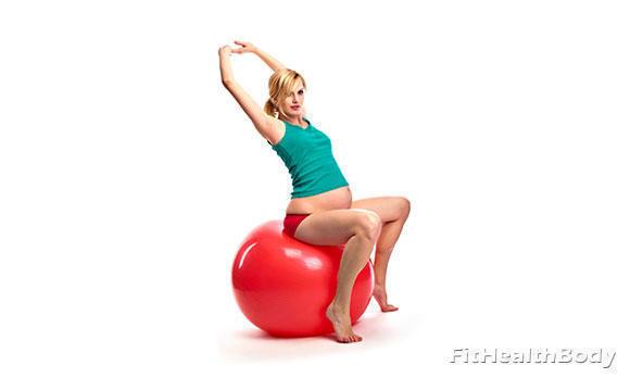 упражнения на фитболе для беременных 3 триместр