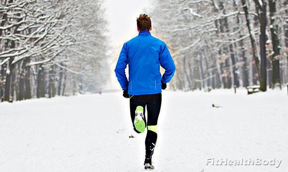 бег зимой на улице
