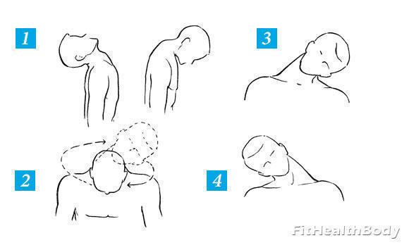 разминка мышц шеи