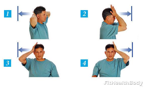 тренировка шеи статикой