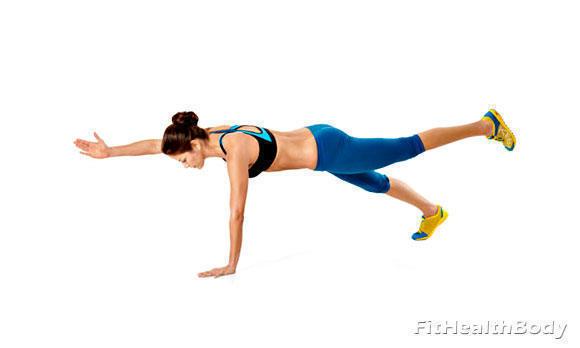 упражнение планка на одной руке