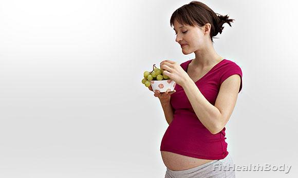 польза винограда при беременности