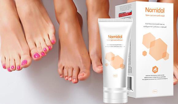 Какое действие оказывает Номидол крем от грибка ног?