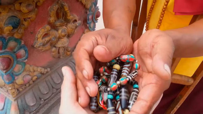 тибетский амулет Бусина дзи